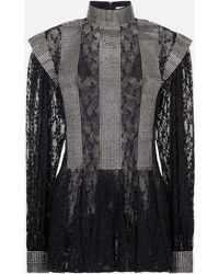 Christopher Kane - Crystal Lace Godet Dress - Lyst
