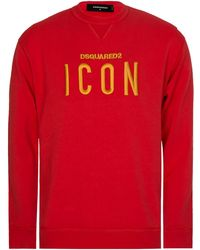 DSquared² - Dsquared Icon Sweatshirt Red - Lyst