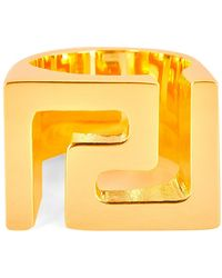 Versace - Iconic Logo Ring - Lyst