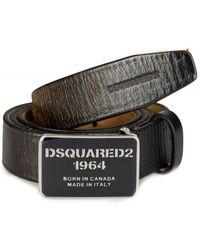 DSquared² - Dsquared Slim Logo Belt - Lyst