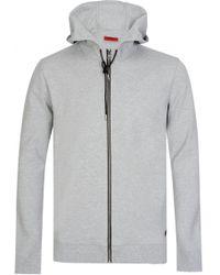HUGO - Hugo Boss Durphy Hooded Sweatshirt Grey - Lyst
