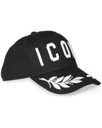 DSquared² - Embroidered Icon Leaf Cap - Lyst