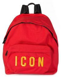 DSquared² - Dsquared Icon Backpack Red - Lyst