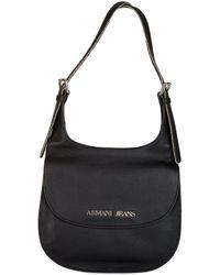 Armani - Jeans Women's Leather Shoulder Bag Black - Lyst