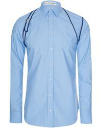 Alexander McQueen - Mainline Binding Harness Shirt Light Blue - Lyst