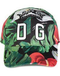 d9b959f44f9bf Dolce   Gabbana Butterfly Print Baseball Cap for Men - Lyst