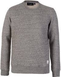 Paul Smith - Quilted Grey Sweatshirt - Lyst