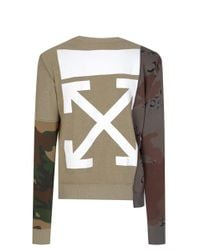 Off-White c/o Virgil Abloh - Reconstructed Camouflage Sweatshirt - Lyst