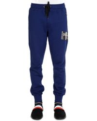 Dolce & Gabbana - Tape Logo Joggers Blue - Lyst