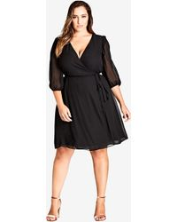 City Chic - Black Simply So Dress - Lyst