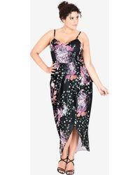 City Chic - Blush Rose Maxi Dress - Lyst