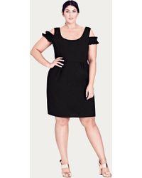 City Chic - Black Cute Frill Dress - Lyst