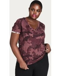 City Chic - Ruby Camouflage Top - Lyst