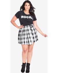 City Chic - London Check Skirt - Lyst