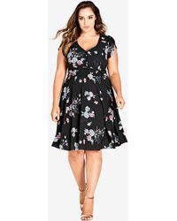 City Chic - Lovely Blooms Dress - Lyst