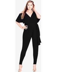 City Chic - Sassy Girl Jumpsuit - Lyst