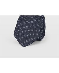 Club Monaco - Navy Micro Dot Tie - Lyst