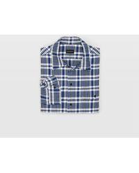 Club Monaco - Brushed Plaid Work Shirt - Lyst