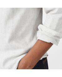 Club Monaco - Slim Solid Double-faced Shirt - Lyst