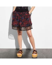 COACH - Horse Print Tiered Skirt - Lyst