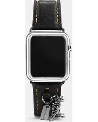COACH - Apple Watch® Leather Watch Strap With Charms - Lyst