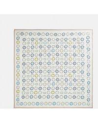 COACH - Tea Rose Print Silk Square - Lyst