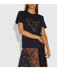 COACH - Embroidered Rexy T-shirt - Lyst