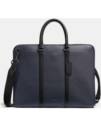 COACH - Harness Metropolitan Slim Brief In Pebble Leather - Lyst