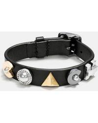 COACH - Deco Leather Bracelet - Lyst