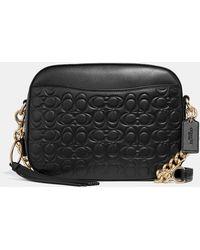 COACH - Camera Bag In Signature Leather - Lyst