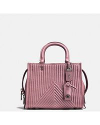 COACH - Rogue 25 With Quilting And Rivets - Lyst