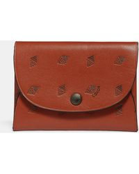 COACH - Snap Card Case With Dot Diamond Print - Lyst