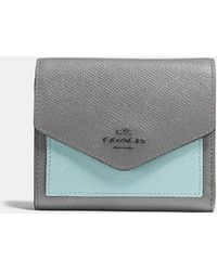 COACH - Small Wallet In Colorblock - Lyst