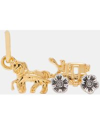 COACH - Tea Rose Horse And Carriage Charm - Lyst