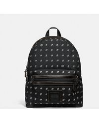 COACH - Academy Backpack In Dot Diamond Print Cordura® Fabric - Lyst