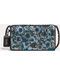 COACH - Dinky With Leather Sequin - Lyst