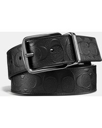 bc9196b91315e COACH - Wide Harness Cut-to-size Reversible Belt In Signature Leather - Lyst