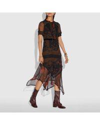 COACH - Bandana Print Dress - Lyst