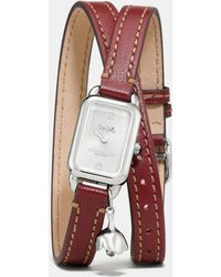 COACH - Ludlow Double Wrap Watch With Charm, 17mm X 24mm - Lyst