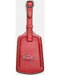 COACH - Luggage Tag In Glovetanned Leather - Lyst