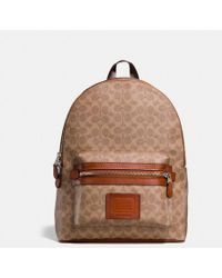 COACH - Academy Backpack In Signature Canvas - Lyst