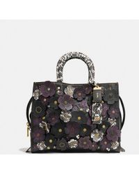 COACH - Rogue With Snakeskin Tea Rose - Lyst