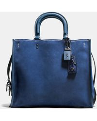 COACH - Rogue 36 Suede Tote Bag - Lyst