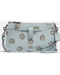 COACH - Pop-up Messenger With Rose Print - Lyst