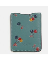 COACH - Phone Pocket Sticker With Cherry Print - Lyst