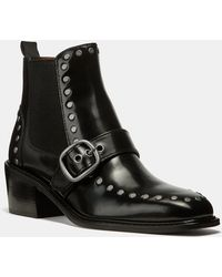 COACH - Studded Chelsea Boots - Lyst