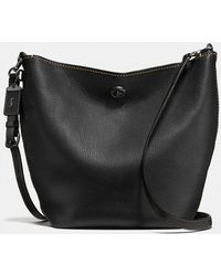 COACH - Duffle Shoulder Bag In Glovetanned Pebble Leather - Lyst