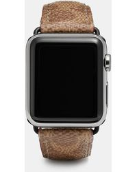 COACH - Apple Watch Strap In Signature Canvas - Lyst