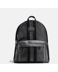 COACH - Campus Backpack In Buffalo Embossed Leather With Baseball Stitch - Lyst