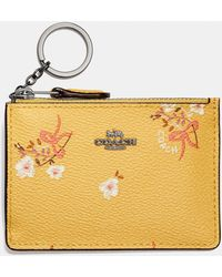COACH - Mini Skinny Id Case With Floral Bow Print - Lyst